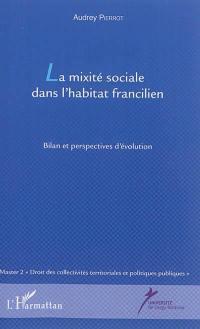 La mixité sociale dans l'habitat francilien
