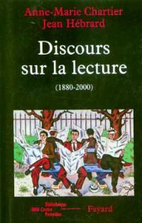 Discours sur la lecture 1880-2000