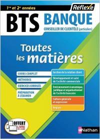 BTS banque, conseiller de clientèle (particuliers), 1re-2e années