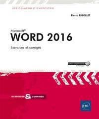 Word 2016 : exercices et corrigés
