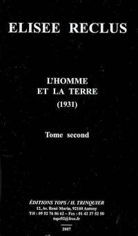 L'homme et la Terre (1931). Volume 2