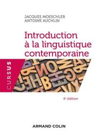 Introduction à la linguistique contemporaine