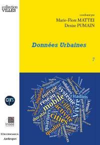 Données urbaines. Volume 7