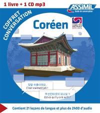 Coffret conversation coréen : 1 livre + 1 CD MP3