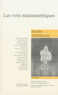 Etudes théâtrales. n° 60-61, Les voix marionnettiques
