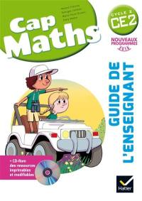 Cap maths CE2, cycle 2 : guide de l'enseignant : nouveaux programmes 2016