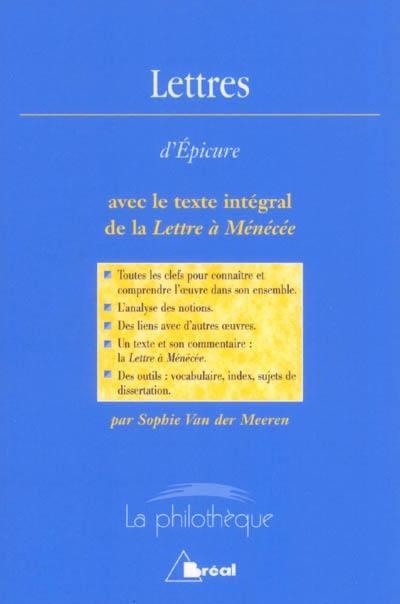 Lettres, Epicure