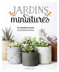 Jardins miniatures : 80 compositions en pots avec des plantes succulentes