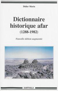 Dictionnaire historique afar (1288-1982)