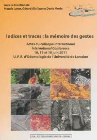 Indices et traces