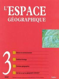 Espace géographique. n° 3