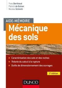 Mécanique des sols : aspects mécaniques des sols et des structures