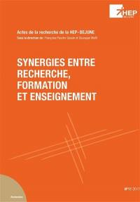 Synergies entre recherche, formation et enseignement : actes de la recherche de la HEP-BEJUNE