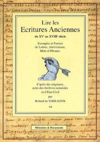 Ecritures anciennes, XVe au XVIIIe siècle