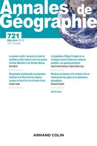 Annales de géographie. n° 721,