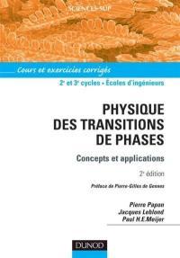 Physique des transitions de phases