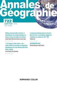 Annales de géographie. n° 722,