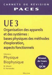 UE3 organisation des appareils et des systèmes. Volume 1, Physique-biophysique
