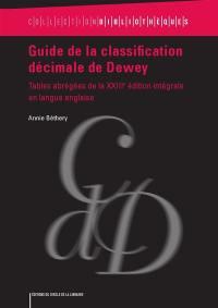 Guide de la classification décimale de Dewey