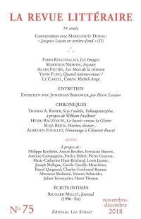 Revue littéraire (La). n° 75,