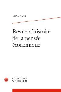 Revue d'histoire de la pensée économique. n° 4