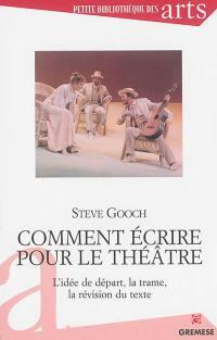 Comment écrire pour le théâtre : l'idée de départ, la trame, la révision du texte