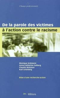 De la parole des victimes à l'action contre le racisme