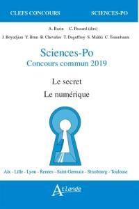 Sciences-Po, concours commun 2019