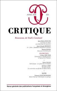 Critique. n° 851