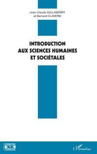 Introduction aux sciences humaines et sociétales