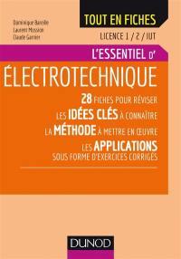 L'essentiel d'électrotechnique, licence 1, 2, IUT