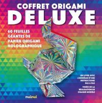 Coffret origami deluxe : 60 feuilles géantes de papier origami holographique