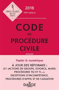 Code de procédure civile 2018, annoté