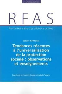 Revue française des affaires sociales. n° 4 (2018), Tendances récentes à l'universalisation de la protection sociale