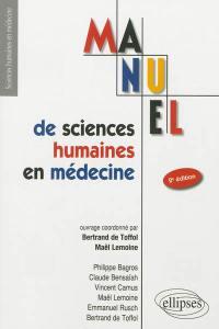 Manuel de sciences humaines en médecine