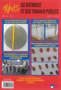 Annales du bâtiment et des travaux publics. n° 2 (2015), Matériaux de construction alternatifs