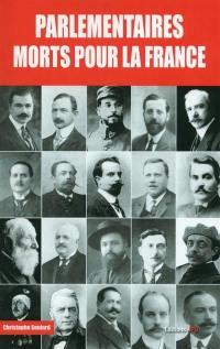 Parlementaires morts pour la France : 1914-1918