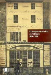 Catalogues de libraires et d'éditeurs