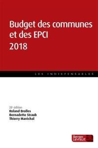 Budget des communes et des EPCI 2018