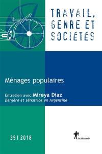 Travail, genre et sociétés. n° 39, Ménages populaires