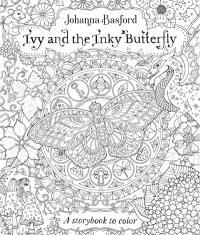 Ivy et le papillon d'encre : conte magique à colorier