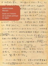 Essais sur l'histoire de la pensée politique au Japon