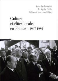 Cuture et élites locales en France