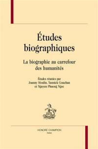 Etudes biographiques