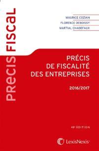 Précis de fiscalité des entreprises 2016-2017