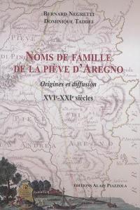 Noms de famille de la piève d'Aregno : origines et diffusion : XVIe-XXIe siècles