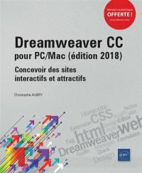 Dreamweaver CC pour PC-Mac (édition 2018) : concevoir des sites interactifs et attractifs