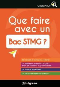 Que faire avec un bac STMG ?