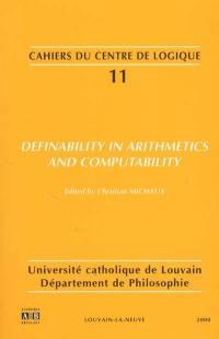 Definability in arithmetics and computability
