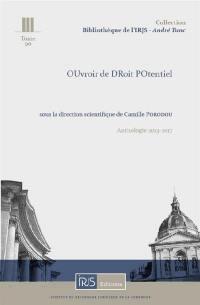L'Oudropo,, : anthologie 2013-2017